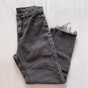 Urban Outfitters   Distressed Mom High Rise Jeans